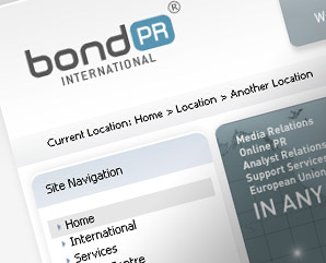 Bond PR - internationl webdesign - mindnever