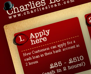 Charlies Loan - webdesign