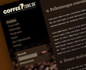coffee zone - coffe design - web design template - mindnever