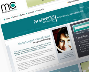 Media Centre Europe - website template design for eton digital - mindnever