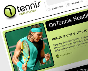 on tennis - web template for eton digital - tennis template -  mindnever