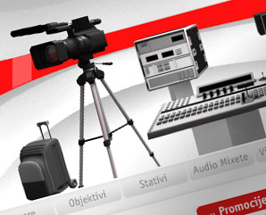 saut professional - camera and video rental - webdesign mindnever